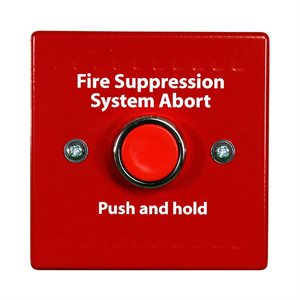 FirePro Xtinguish™ Extinguishant Abort Switch for HCVR-3, Surface Mount, Red