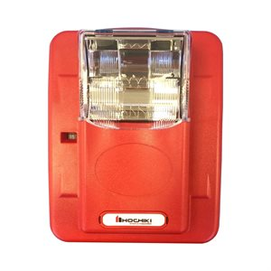 HES3-24PWR - Strobe 24VDC, Multi Candela, Plain no Lettering, Wall Mount, Red