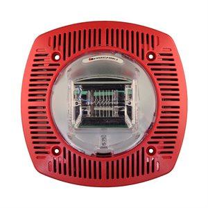 HSSPK24-1575WLPR - Speaker Strobe 24VDC, 15/75CD, Wall Mount, Red