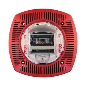 HSSPK24-WLPR Speaker Strobe 24VDC, Multi Candela, Wall Mount, Red