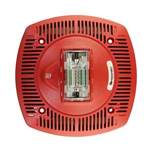 HSSPK24-CLPR - Speaker Strobe 24VDC, Multi Candela, Ceiling Mount, Red
